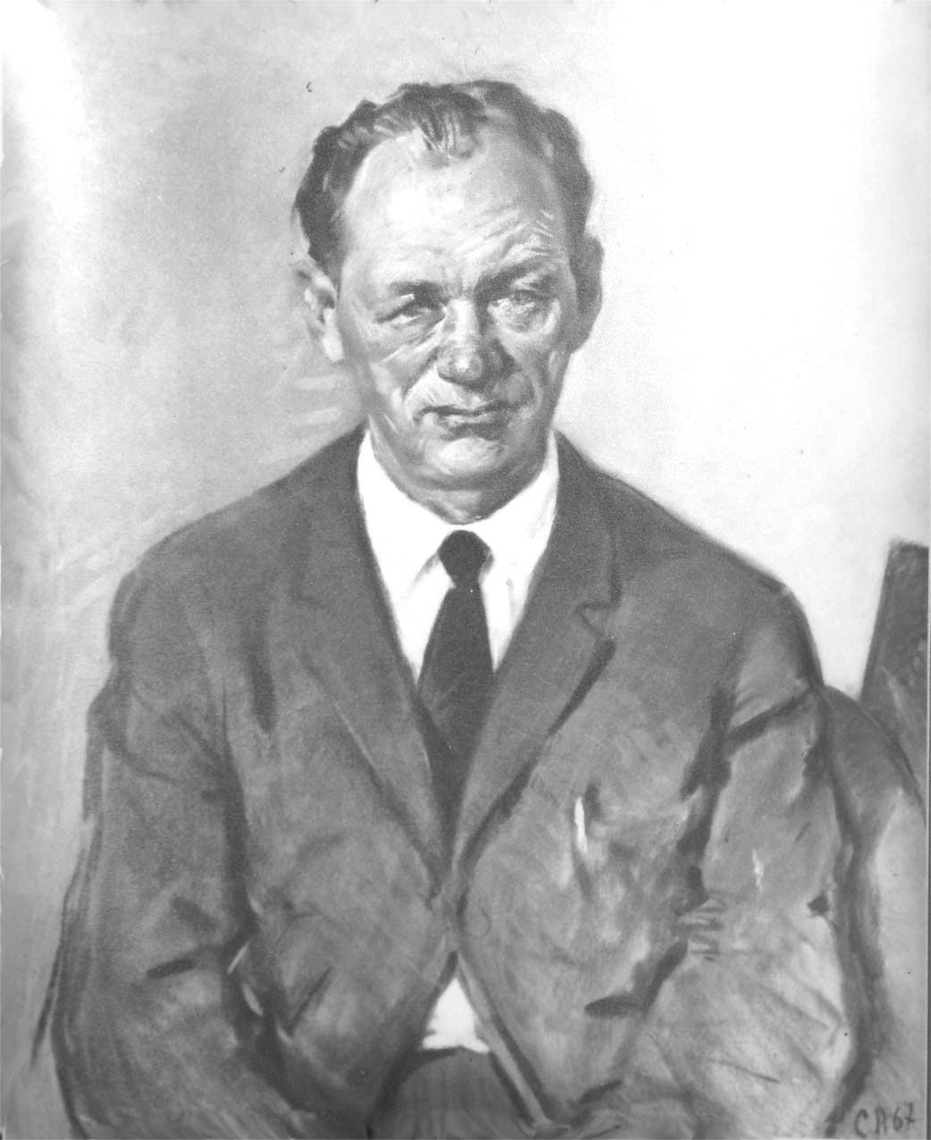 С.Петров. Портрет А.М.Тишкина. 1967г.